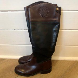 {Vince Camuto} Brown Black Keaton Riding Boots